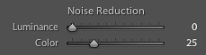 Screen shot of Lightroom noise-reduction sliders