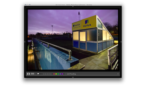An image displayed in Lightroom 4
